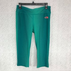 The North Face Cropped Teal Leggings